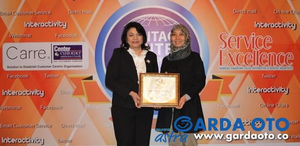 Garda Akses Asuransi Astra Raih Contact Center Service Excellence Award 2014